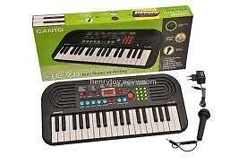 37 KEY CANTO HL 70 ELECTRONIC MUSICAL KEYBOARD PIANO TOY FOR KIDS