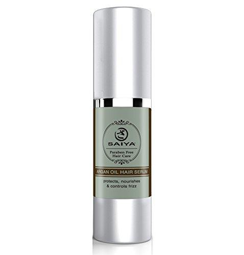 Soin des cheveux réparant le traitement à l'huile d'argan de Saiya - Renforce, nourrit et hydrate les cheveux - Renforce les pointes fourchues et les dommages dus à la chaleur - 30 ml