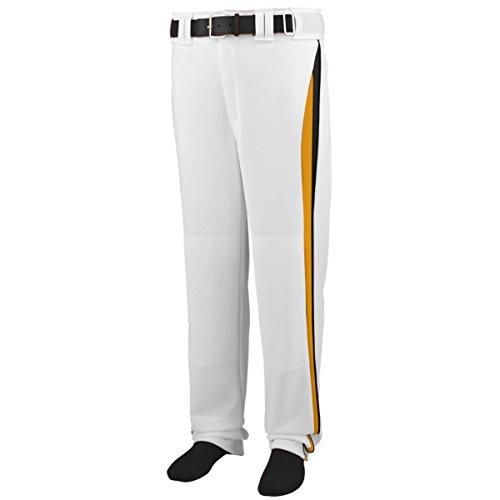 Augusta Sportswear Boys' Line Drive Baseball Pant S White/Gold/Black