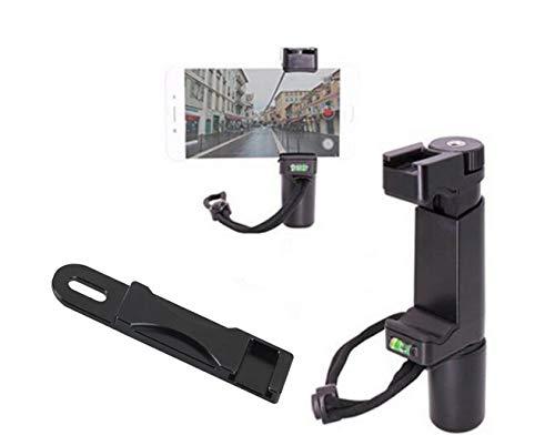 Octo Mounts F-Mount Mobile Smartphone Kamera Griff Griff Rig Einbeinstativ mit Stativ Halterung und Dual Zubehör Adapter mit Kaltschuh für Video - iPhone, iPhone Plus, Galaxy, Android