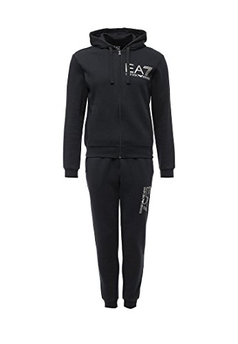 EA7 Emporio Armani Man Jersey Tracksuit 6YPV57PJ07Z-1578 Herren Sportanzug-set (L, Black)