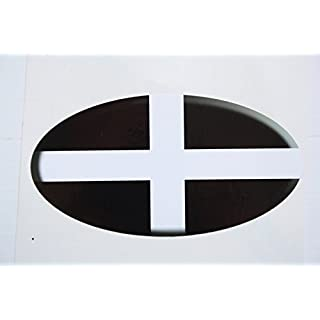 Advanced Printing Cornwall County Flag Plain Car Bumper Sticker Embossed 3D Effect Flat Vinyl