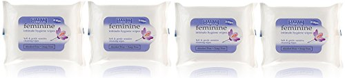 feminine-intimate-hygiene-soft-gentle-soap-free-wipes-four-pack