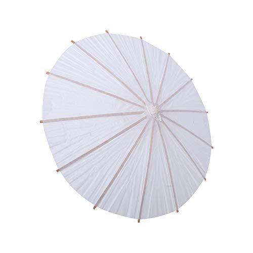 Zerodis Papier Regenschirm Sonnenschirm Tanz Fotografie Kunst Zubehör Party Dekoration Weiß(Halbmesser30cm)