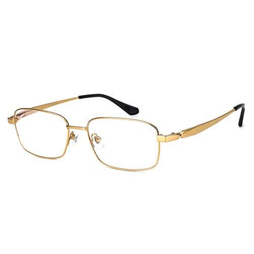 FANGUGF Flache Gläser Brillengestell Herrenbrille Flaches Licht Leselinse