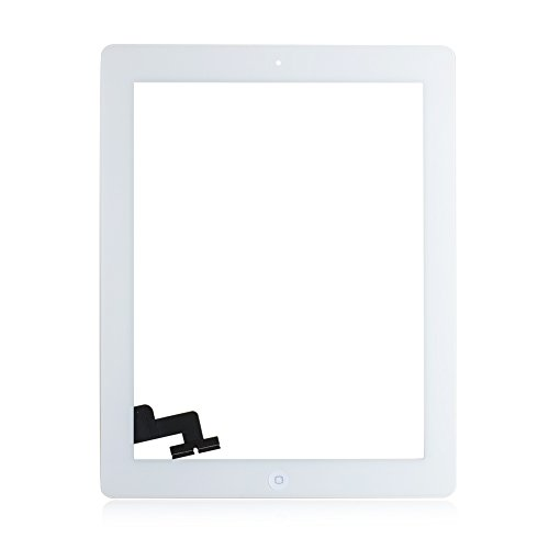 Für Apple iPad 2 Screen-Digitizer Glass Replacement mit Home Button und Werkzeuge zur Reparatur (Weiß)