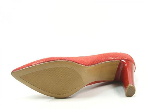Caprice 9-22402-20-552 Damen Schuhe Pumps High Heels Weite G Rot