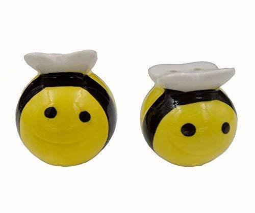 Salz- und Pfefferstreuer Set, Creasking Seasoning Dosen Mini Keramik Gläser in Geschenkverpackung Biene (Geburtstag Für Party-ideen 75. Mama)