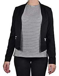 VERO MODA - Damen Jersey-Blazer in grau mit Muster oder schwarz (10206213) 8923ad974d