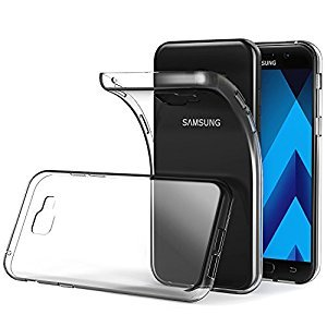 RTCO™ Stylish Soft Flexible Silicone Transparent Case Back Covers For Samsung Galaxy A5 (2017) Free Tempered Glass Screen Protector  available at amazon for Rs.199