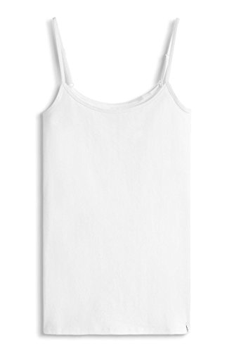 edc by ESPRIT Damen Top 026CC1K002-Basic Weiß (White 100)