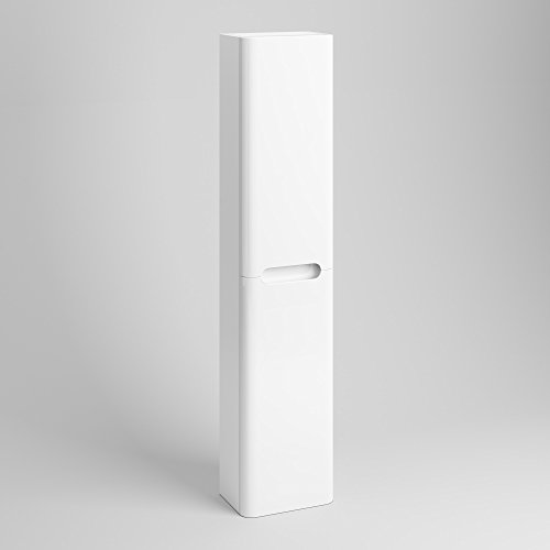 1400 mm Tall White Bathroom Furniture Wall Hung Cupboard Cabinet Storage Unit MF914