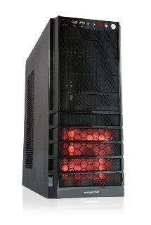 Obudowa Case PRO-STATION Blk Red LED FAN w/o PSU (Led Blk-red)