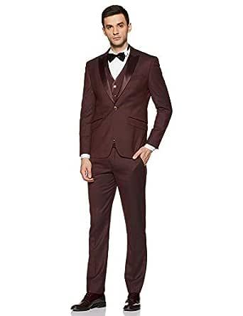 Louis Philippe Men's Poly Viscose Notch Lapel Suit