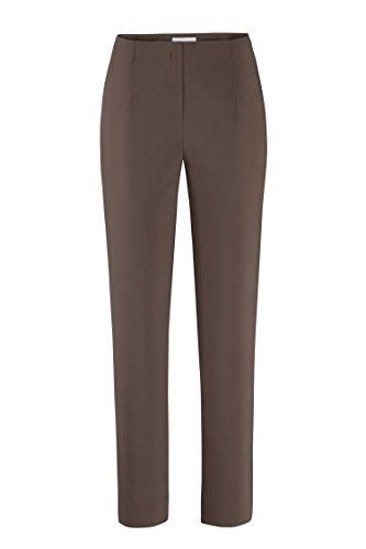 Ina 740 di Stehmann Pantaloni donna comfort elasticizzati vita alta Espresso