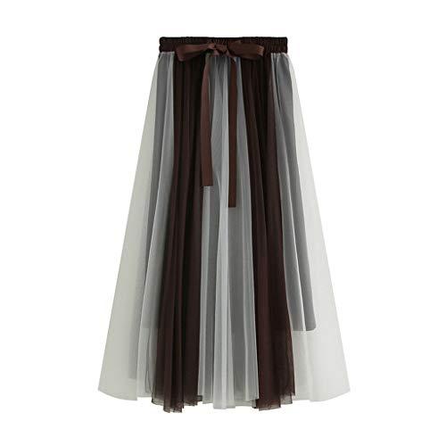 Proumy Vestidos&Faldas Damen Rock, Comprar más Con descuento en Proumy, Braun, Comprar más Con descuento en Proumy One Size (Descuento Vestidos De)