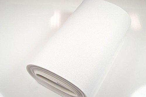 StoffBook WEIß STABILER BASTELFILZ TASCHENFILZ STOFF CA. 5MM STOFFE, B527