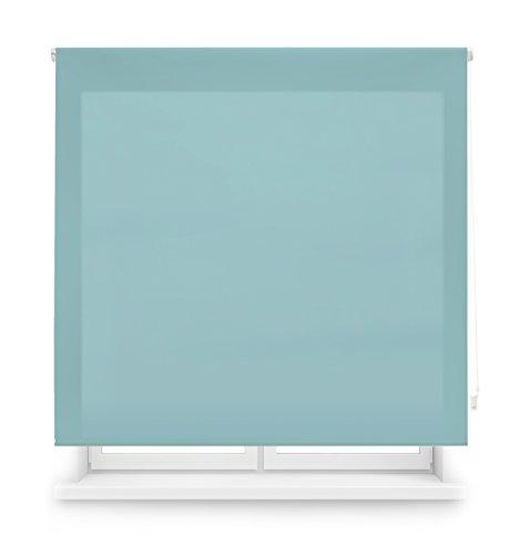 Blindecor Ara Estor enrollable translúcido liso, Celeste, 160 x 175 cm