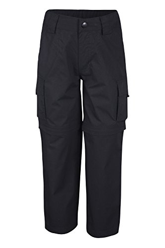 Mountain Warehouse Active Kids Convertible Trousers Black 13 years