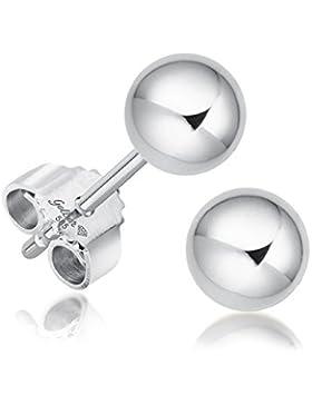 Juwelier Gelber Kugel Ohrstecker Weiß Gold 585 14 Karat ca. 4,5mm Mittel