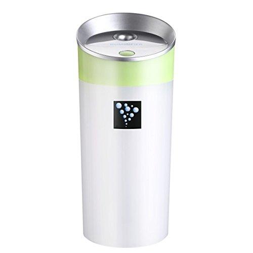 XGMSD Humidificador USB Anión Copas Máquina De Aromaterapia 7,2 Cm De Diámetro 15.8cm De Alto.,Green