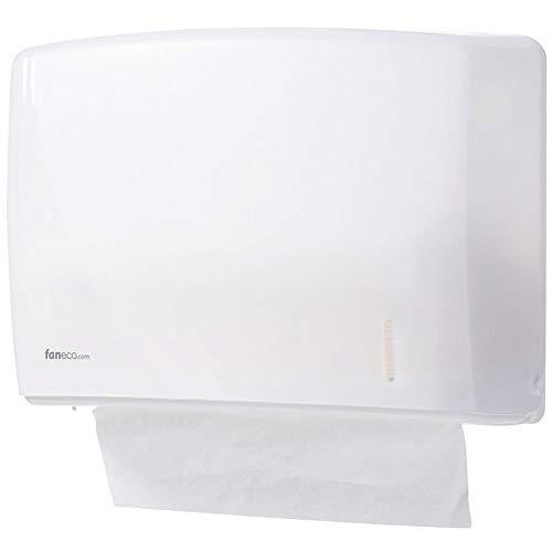 Papierhandtuchspender ECO Serie von FANECO   Wand-Handtuchspender   ABS Kunststoff   Weißer Handtuchspender für öffentliche Toiletten Mit einem Plastikschlüssel verschlossen