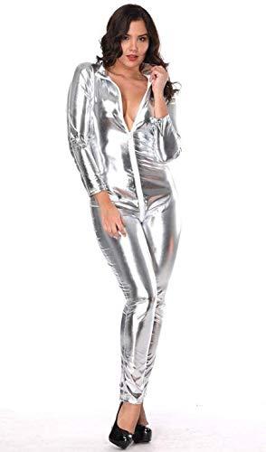 die Vereinigten Staaten sexy Lackleder Overall Raumanzug Auto Modell Jumpsuit Sängerin DJ Stadium Nachtclub DS Kostüm ()