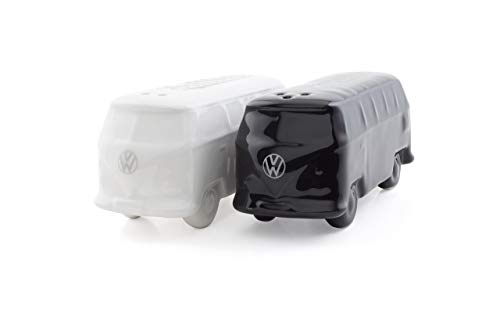 Brisa VW Collection VW Bus T1 Salz & Pfefferstreuer 2er Set (Schwarz und Weiß)