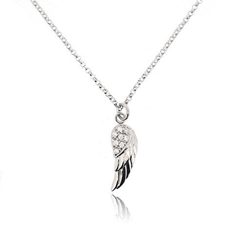 Sovats Damen Halskette Flügel 925 Sterlingsilber - Winzige Gold-charme-halskette