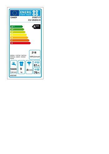 Candy CS 1292D3-01 Lavatrice, 9 kg, 1200 rpm, Bianco