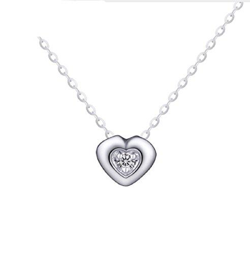 Gowe 18K Gold Diamant Halskette Anhänger weiblich Herz Schloss Kette Charme Frauen Mädchen Miss Geschenk Genuine Party trendige Individuelle Gestaltung Gute New (Gold-diamant-charme-halskette)