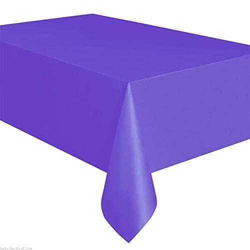 Haihuic Premium Einweg-Tischdecke aus Kunststoff 137 cm x 274 cm Rechteck Tischtuch für Picknick/Party, Dunkelviolett