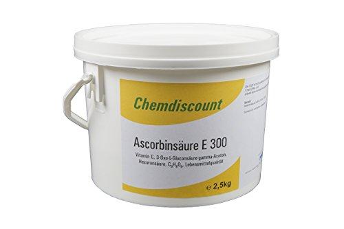 Ascorbinsäure (Vitamin C), Lebensmittelqualität E300 2,5kg, versandkostenfrei