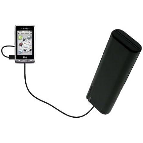 Caricabatterie AA di emergenza portatile compatibile con LG VX9700 con tecnologia TipExchange