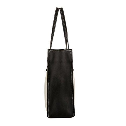Dame-Leder-Handtaschen-Art- Und Weiseeinfache Modische Lederne Beutel-wilde Handtaschen-Schulter-Beutel-Beutel Black