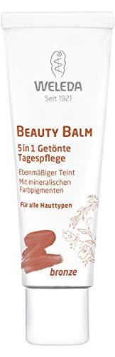 WELEDA Beauty Balm 5in1 Getönte Tagespflege Bronze, Naturkosmetik Tagescreme und Gesichtspflegecreme für einen natürlichen Teint und schöne Haut, für einen mittleren bis dunklen Hautton (1 x 30 ml)