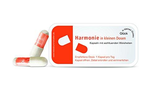 Preisvergleich Produktbild Harmonie in kleinen Dosen Pillen mit Sprüchen