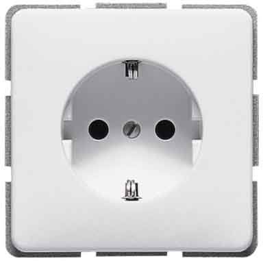 Jung CD 1520WW SCHUKO socket-outlet Alpinweiß
