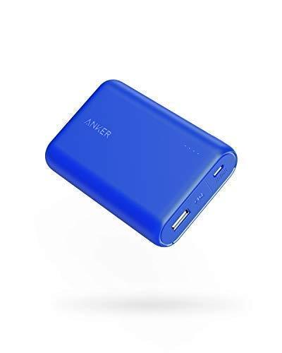 Anker PowerCore 10000mAh Powerbank, Kleiner & Leichter externer Akku, Extra kompakt, für iPhone X / 8/8 Plus / 7 / 6s / 6 Plus/iPad, Samsung Galaxy und viele mehr (Blau)