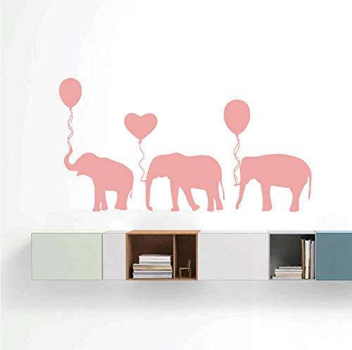 Lkfqjd Calcomanías De Elefantes Con Globos Rosados Lindos, Vinilo Animal Pegatinas De...