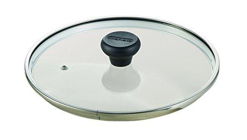 Moneta coperchio piatto, vetro, trasparente, diametro 20 cm