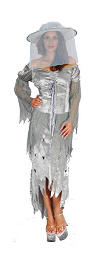 Ciao- Costume Adulto Lady Ghost TG. M Disfraces, Color gris, 16166