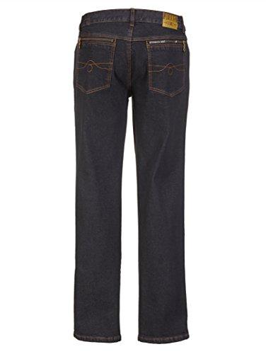 Herren Jeans Baumwoll-Mischung mit seitlichem Dehnbund by Roger Kent Black Stone
