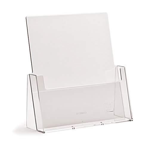 taymar DIN A4 Prospekthalter/Prospektständer, Transparent