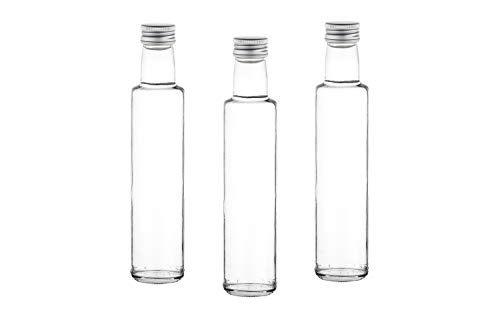 casa-vetro 12, 24, 30, oder 42 x 250 ml Flaschen DORI Saftflaschen Likörflaschen Schnaps mit Schraubverschluss 0,25 Liter l (42 stück)