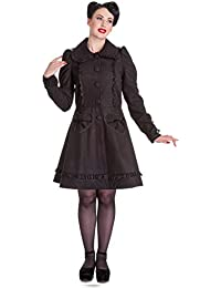 e46c037ccd551 Hell Bunny 50s Vintage Rockabilly Winter Lace Coat Courtney Black