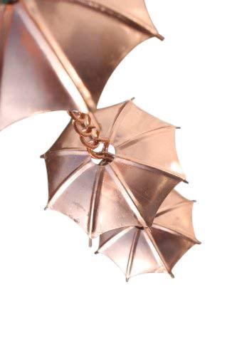 Regenketten - Regenkette Schirm - aus verkupfertem Metall