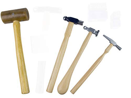 OSCAR Jewelry Making KIT Basic Tool Jewelers Set Hammer, 3 Types Hammer RAW Mallet, Chisel