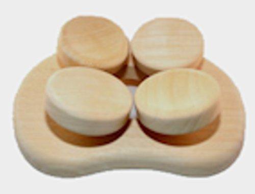 Abachi Holz - Sauna Kissen Kopfstütze ergonomisch perfekt für jeden Kopf