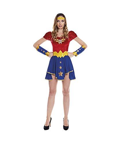 Partylandia Disfraz de Wonder Woman para Mujer Carnaval Cosplay Cómodo Suave S